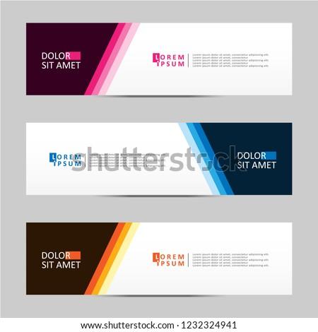 Banner background. Modern template vector design. Vector illustration eps 10 #1232324941
