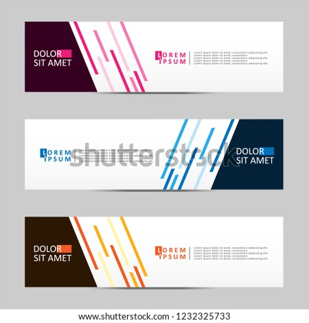 Banner background. Modern template vector design. Vector illustration eps 10 #1232325733