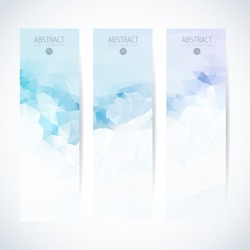 banner background triangle vertical footer ice vector business pattern logo straight flag vector series where you can choose what fits best your project banner background triangle vertical footer ice
