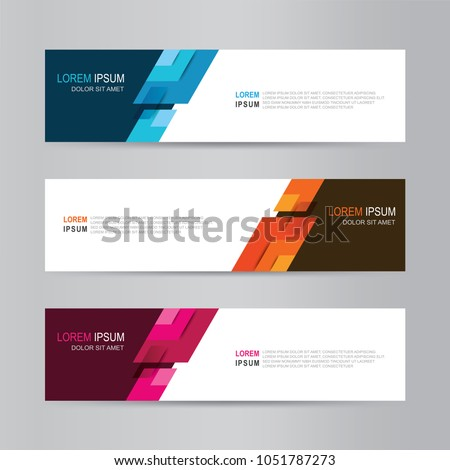 Banner background.  vector design web template #1051787273