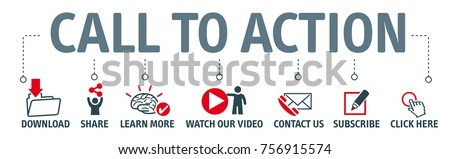 Banner call to action vector illustration concept with icon