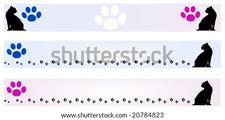 Banner Cat frames, male and female model