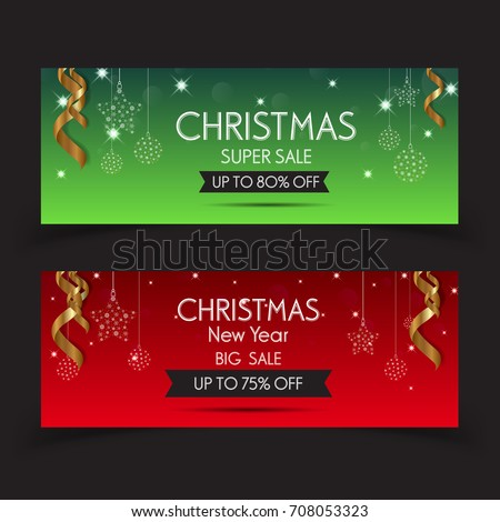 stock-vector-banner-christmas-sale-set-of-vector-design-elements