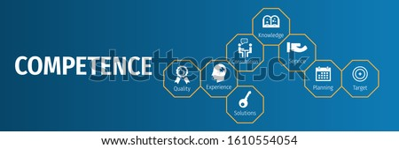 Banner competence vector illustration concept with icon Stock photo ©