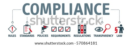 Banner compliance concept. Keywords and pictogram Stock photo ©