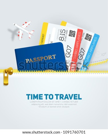 banner concept for travel and