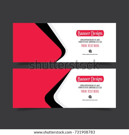 Banner Design. Template Abstract Poster. Red facebook banner