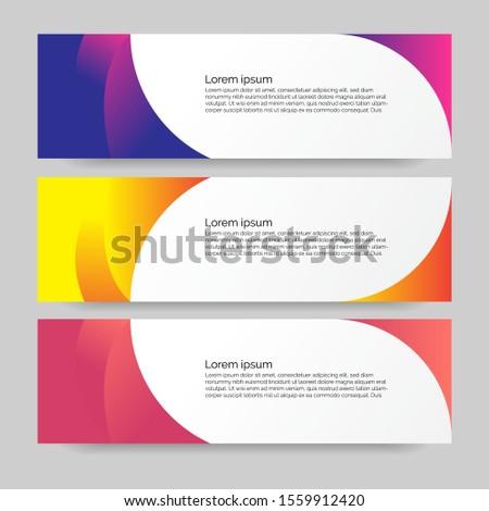 Banner design vector background. modern banner design