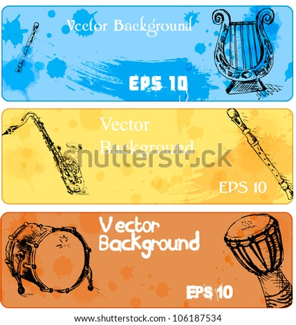 Banner for a site web - musical instrument