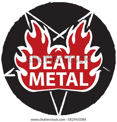 banner for death music with