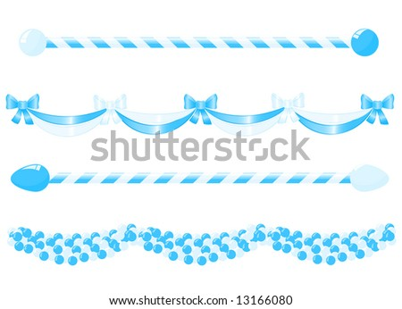 Banner for decoration in traditional colors of Bavaria. Vector-Illustration.