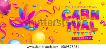 banner for fun carnival party