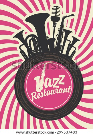 banner for jazz restaurant with
