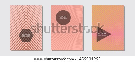 Banner graphics cool vector templates set. Contemporary collection. Halftone lines music poster background. Futuristic style. Abstract banners graphic design with lined shapes.