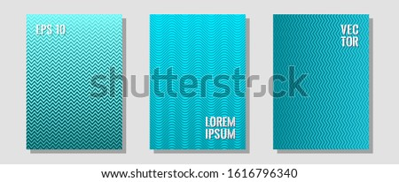 Banner graphics cool vector templates set. Minimalist geometry. Zigzag halftone lines wave stripes backdrops. Technological formers. Abstract banners graphic design with lined shapes.