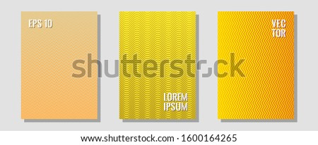 Banner graphics cool vector templates set. Stylish print pages. Zigzag halftone lines wave stripes backdrops. Minimalist geometry. Abstract banners graphic design with lined shapes.