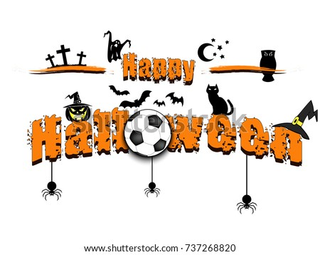 banner happy halloween and