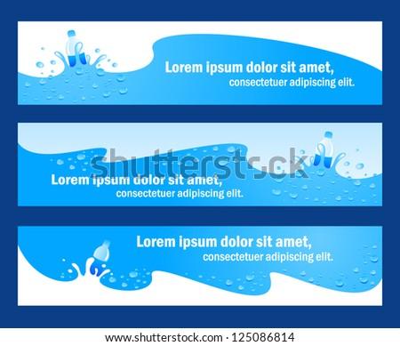 banner header water aqua blue element / rgb, no transparent