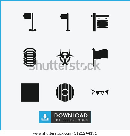 banner icon collection of 9