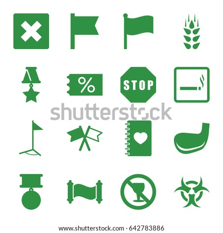 banner icons set set of 16