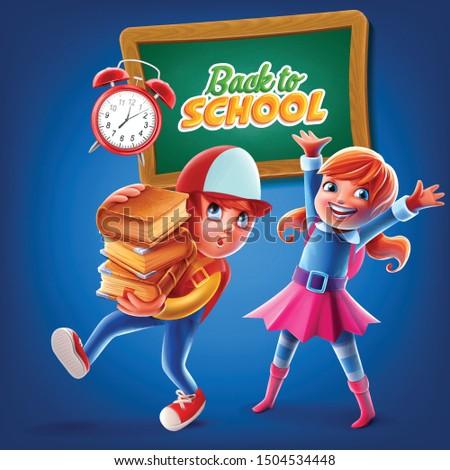 banner illustration for back to school