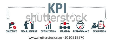 banner kpi concept with icons