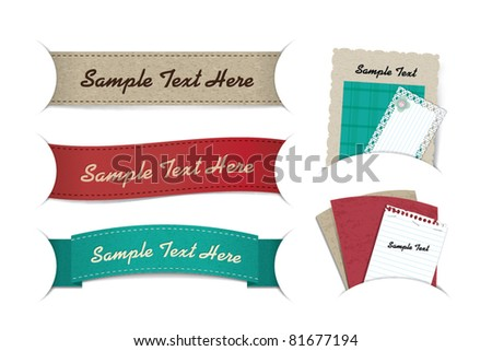 banner & note paper