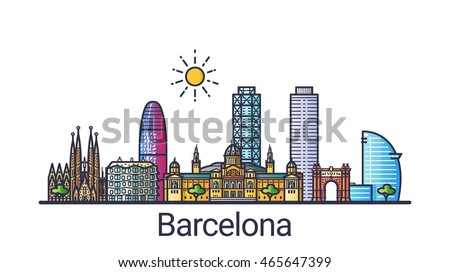 banner of barcelona city