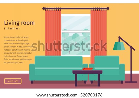 banner of colorful living room