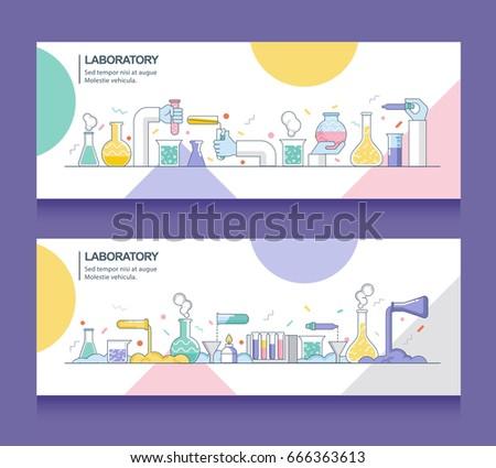 banner of laboratory