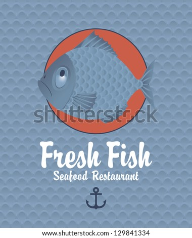 Banner on the background of the fish scales