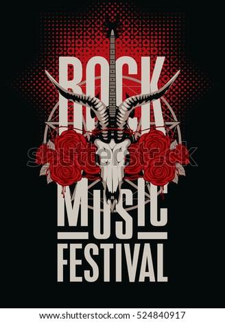 banner poster for festival rock