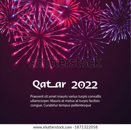 banner Poster Happy new year Qatar 2022 vector template