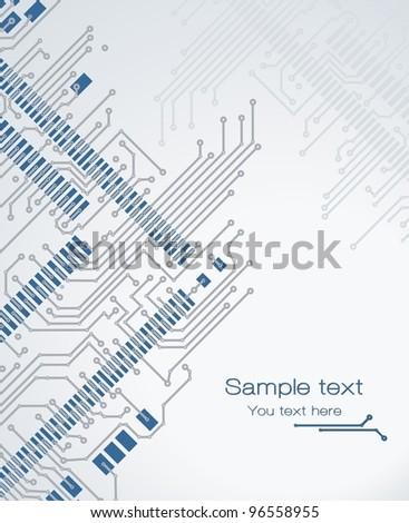 Banner printed circuit board - stock vector