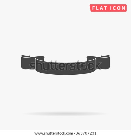 Banner ribbon Icon Vector. Simple flat symbol. Perfect Black pictogram illustration on white background.