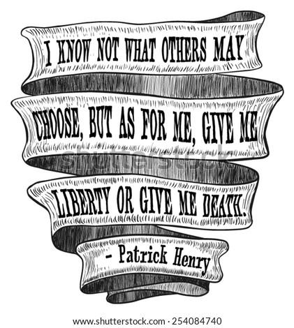 banner ribbon liberty death