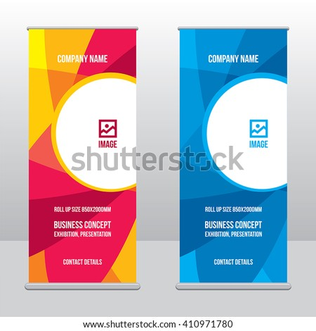 banner roll up design  business