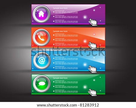 Banner set for site. Vector illustration