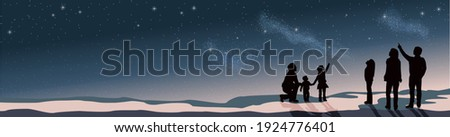 banner stargazing looking at
