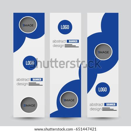Banner template. Abstract background for design,  business, education, advertisement. Blue color. Vector  illustration. #651447421