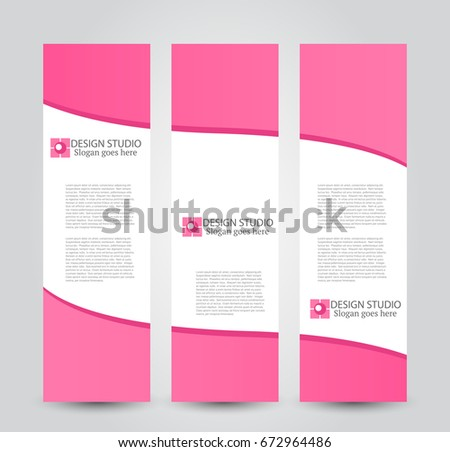 Banner template. Abstract background for design,  business, education, advertisement. Pink color. Vector  illustration. #672964486