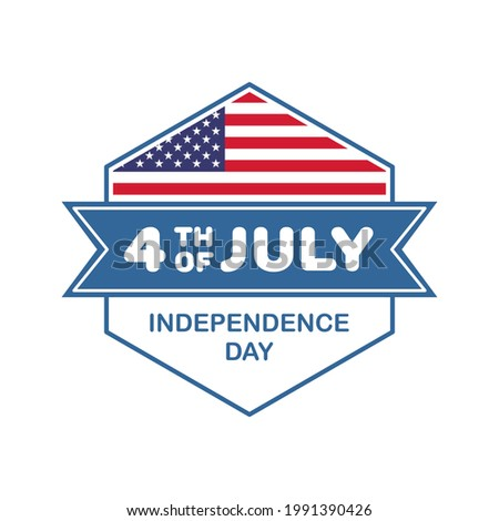 banner template depicting the situation of the independence day