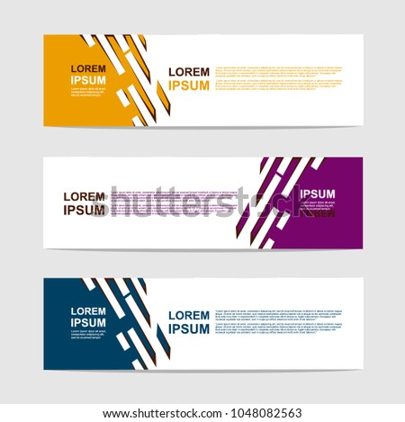 banner template. modern design background. vector. #1048082563