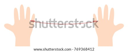 Stock Photo Banner thread red on white background illustration vector. Love concept.