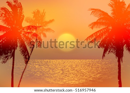 banner   tropical sunset or