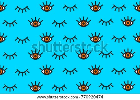 banner with cartoon eyes in