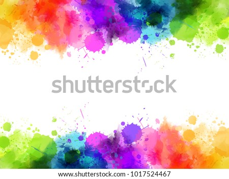 banner with colorful watercolor