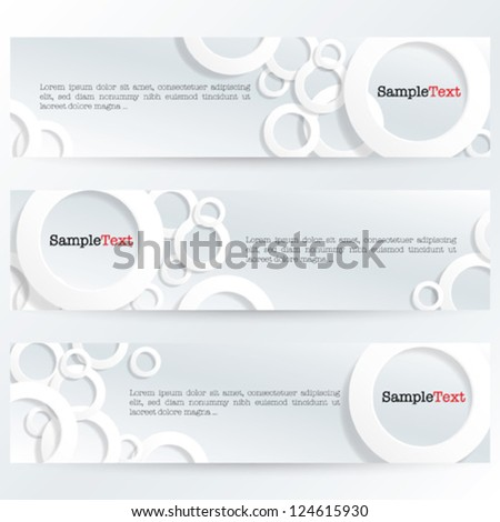 Banner With 3D Rings - white