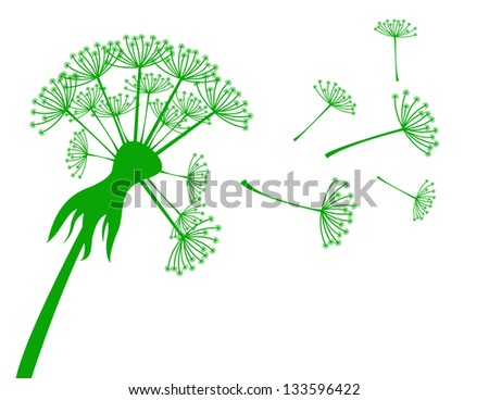 Banner with dandelion