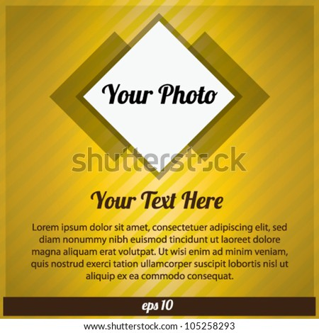 Banner With Frame Photo Abstract Background Vector - stock vector